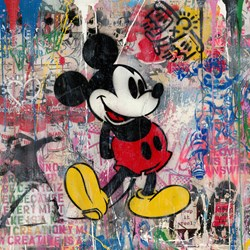 M Classic by Mr. Brainwash - Original on Paper sized 38x38 inches. Available from Whitewall Galleries